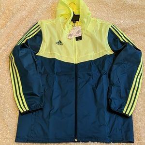 NWT!! ADIDAS FRONT ZIP poly jacket SZ L/XL